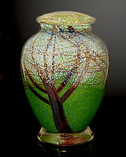 Almond Blossom Jar by Orient & Flume Art Glass (Art Glass Jar)