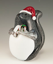 Holiday Squirrel by Orient & Flume Art Glass (Art Glass Sculpture)