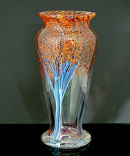 Autumn Woods II by Orient & Flume Art Glass (Art Glass Vase)