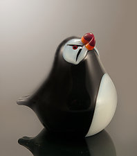 Puffin by Orient & Flume Art Glass (Art Glass Sculpture)