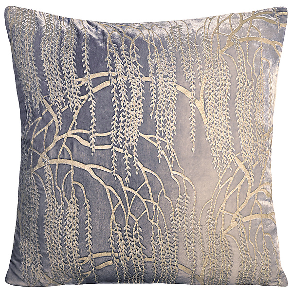 Metallic Willow Velvet Pillow