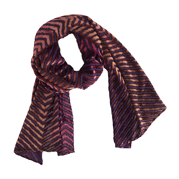 Chevron Burnout Scarf