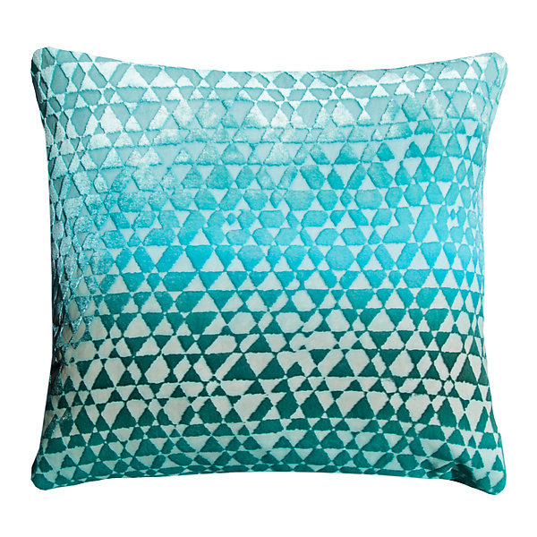 Large Triangles Velvet Pillow