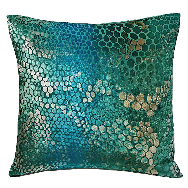 Large Snakeskin Velvet Pillow