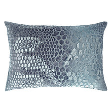 Snakeskin Velvet Lumbar Pillow by Kevin O'Brien (Silk Velvet Pillow)