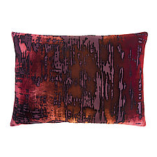 Wildberry Brush Stroke Velvet Pillow - Rectangular by Kevin O'Brien (Silk Velvet Pillow)