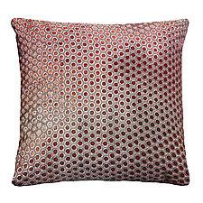 Dots Velvet Pillow by Kevin O'Brien (Silk Velvet Pillow)