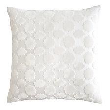 Mod Fretwork Velvet Pillow by Kevin O'Brien (Silk Velvet Pillow)