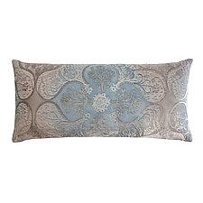 Persian Velvet Long Lumbar Pillow by Kevin O'Brien (Silk Velvet Pillow)