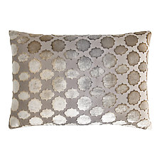 Mod Fretwork Velvet Lumbar Pillow by Kevin O'Brien (Velvet Pillow)