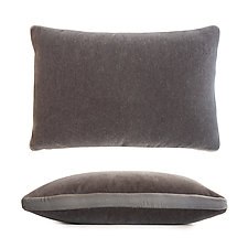 Mohair Tuxedo Lumbar Pillow by Kevin O'Brien (Mohair & Velvet Pillow)