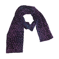 Triangle Double-Sided Scarf by Kevin O'Brien (Silk Velvet Scarf)