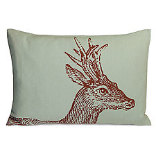 Sketchbook Deer Linen Pillow by Kevin O'Brien (Linen Pillow)