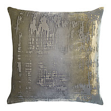 Large Brush Stroke Velvet Pillow by Kevin O'Brien (Silk Velvet Pillow)