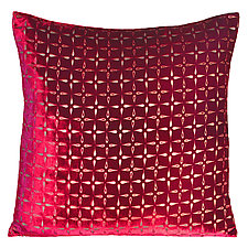 Large Metallic Petal Flower Velvet Pillow by Kevin O'Brien (Velvet Pillow)