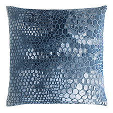 Snakeskin Velvet Pillow by Kevin O'Brien (Silk Velvet Pillow)