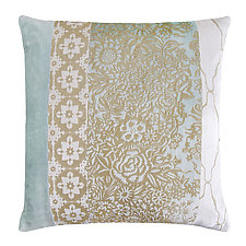 Metallic Garland Small Moroccan Patchwork Pillow by Kevin O'Brien (Silk Velvet Pillow)
