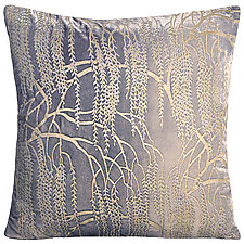 Large Metallic Willow Velvet Pillow by Kevin O'Brien (Velvet Pillow)