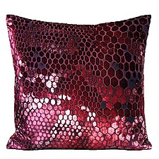 Large Snakeskin Velvet Pillow by Kevin O'Brien (Silk Velvet Pillow)