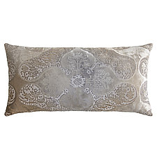 Persian Velvet Long Lumbar Pillow by Kevin O'Brien (Silk Velvet Pillow)