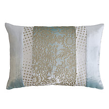 Metallic Garland Patchwork Lumbar Pillow by Kevin O'Brien (Silk Velvet Pillow)