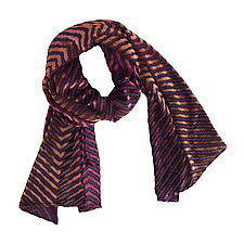 Chevron Burnout Scarf by Kevin O'Brien (Silk Velvet Scarf)