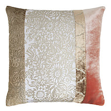 Metallic Garland Patchwork Pillow by Kevin O'Brien (Silk Velvet Pillow)