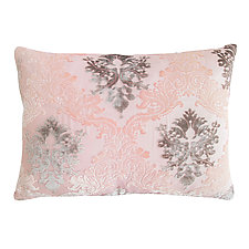 Blush Brocade Velvet Pillow - Rectangular by Kevin O'Brien (Silk Velvet Pillow)