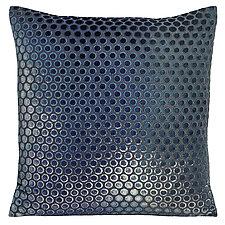 Large Dots Velvet Pillow by Kevin O'Brien (Silk Velvet Pillow)