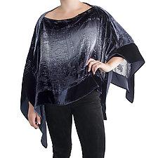 Isobel Velvet Poncho by Kevin O'Brien (Silk Velvet Poncho)