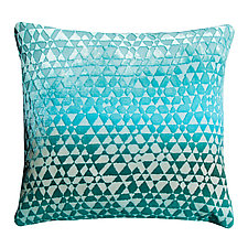 Large Triangles Velvet Pillow by Kevin O'Brien (Velvet Pillow)