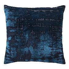 Brush Stroke Velvet Pillow by Kevin O'Brien (Silk Velvet Pillow)