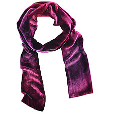 Ombre Double-Sided Scarf by Kevin O'Brien (Silk Velvet Scarf)