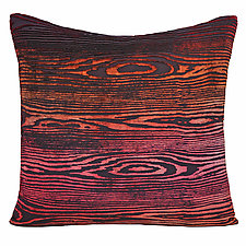 Large Woodgrain Velvet Pillow by Kevin O'Brien (Silk Velvet Pillow)