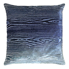 Woodgrain Velvet Pillow by Kevin O'Brien (Silk Velvet Pillow)