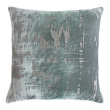 Large Brush Stroke Velvet Pillow by Kevin O'Brien (Velvet Pillow)
