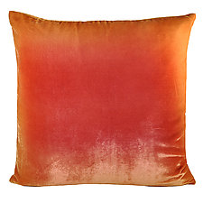 Ombre Velvet Pillow by Kevin O'Brien (Silk Velvet Pillow)