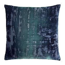 Large Brushstroke Velvet Pillow by Kevin O'Brien (Silk Velvet Pillow)