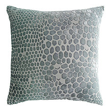 Snakeskin Velvet Pillow by Kevin O'Brien (Silk Velvet Pillow)