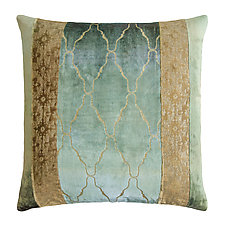 Metallic Arches Patchwork Pillow by Kevin O'Brien (Silk Velvet Pillow)