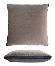 Mohair Tuxedo Pillow by Kevin O'Brien (Mohair & Velvet Pillow)