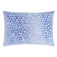 Triangles Velvet Lumbar Pillow by Kevin O'Brien (Silk Velvet Pillow)