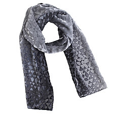 Triangles Burnout Scarf by Kevin O'Brien (Silk Velvet Scarf)