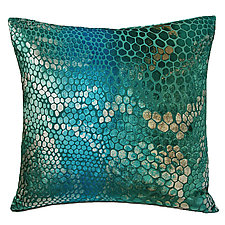 Large Snakeskin Velvet Pillow by Kevin O'Brien (Velvet Pillow)