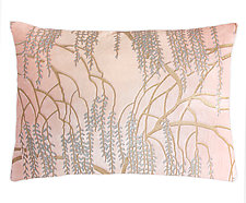 Metallic Willow Velvet Lumbar Pillow by Kevin O'Brien (Silk Velvet Pillow)