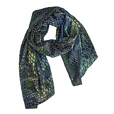 Snakeskin Burnout Scarf by Kevin O'Brien (Silk Velvet Scarf)