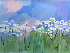 Field of Queen Anne's Lace by Peggy Klineman (Acrylic Painting)
