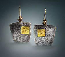 Wedge Earrings by Patricia McCleery (Gold & Silver Earrings)