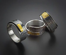 Textured Wrap Band by Patricia McCleery (Gold & Silver Ring)