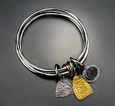 Elemental Bangle Bracelet by Patricia McCleery (Gold & Silver Bracelet)